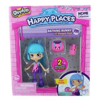 Shopkins Happy Places Lil' Shoppie Pack: Polli Polish, Bathing Bunny