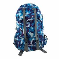 Unique Bargains FreeKnight Authorized Travelling Bag Camping Hiking Backpack Camouflage Blue 50L