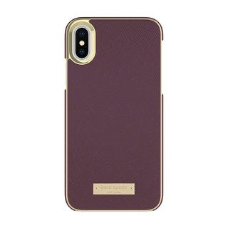 Kate Spade New York Saffiano Leather Wrap Case for iPhone X - Mahogany