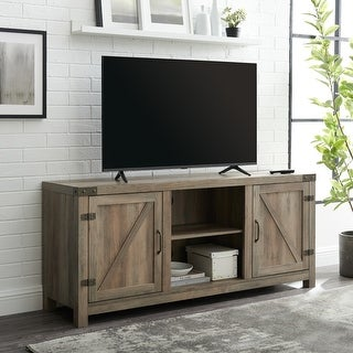Link to The Gray Barn Firebranch 58-inch Barn Door TV Console Similar Items in TV Stands & Entertainment Centers