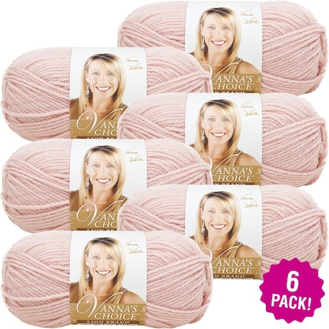 Lion Brand Vanna's Choice Yarn - 6/Pk-Pink - Pink