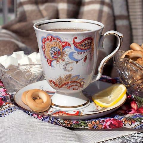 The Firebird Mug and Saucer