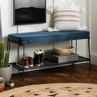 Link to Carbon Loft 46-inch Upholstered Seat Hairpin Bench Similar Items in Living Room Furniture