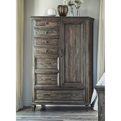 Avenue Weathered Burnished Brown Wood 6-drawer Door Chest