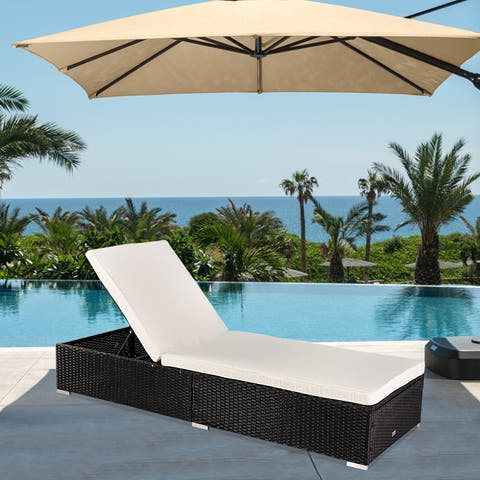 Outdoor Leisure Rattan Furniture Pool Bed / Chaise (Single Sheet)