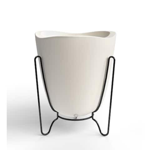 Medium Tryas Resin/ Metal 2-Piece Pot Planter