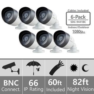 Lot of 6 Samsung SDC-9441BC Weatherproof 1080p High Definition Camera