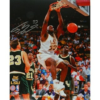 Shaquille O'Neal Signed LSU Tigers Action Dunk 16x20 Photo