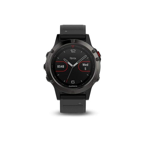 Garmin Fenix 5 Sapphire Edition Multi-Sport Training GPS Watch (Black, Black Band)