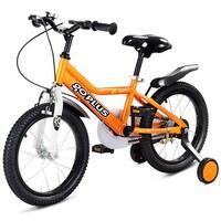 Goplus 12'' Kids Bicycle Outdoor Sports Bike W/ Training Wheel Brakes Boys Girls Cycling - orange,black