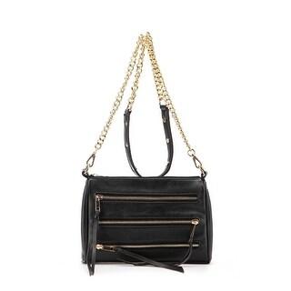 MKF Collection Arlene 3 Zip Crossbody Bag by Mia K Farrow