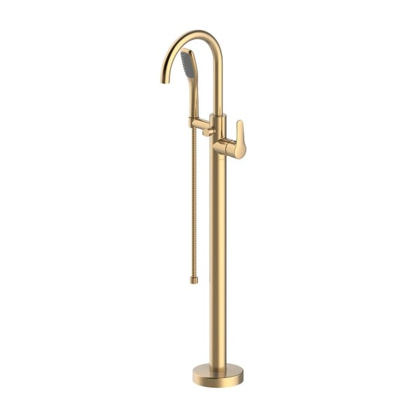 Jacuzzi NW50 Free Standing Tub Filler with Built-In Diverter - Brushed Bronze