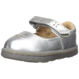 Hanna Andersson Kids' Toddler Glitter Mary Jane, Silver, Size 3 M US Little Kid - 3 m us little kid
