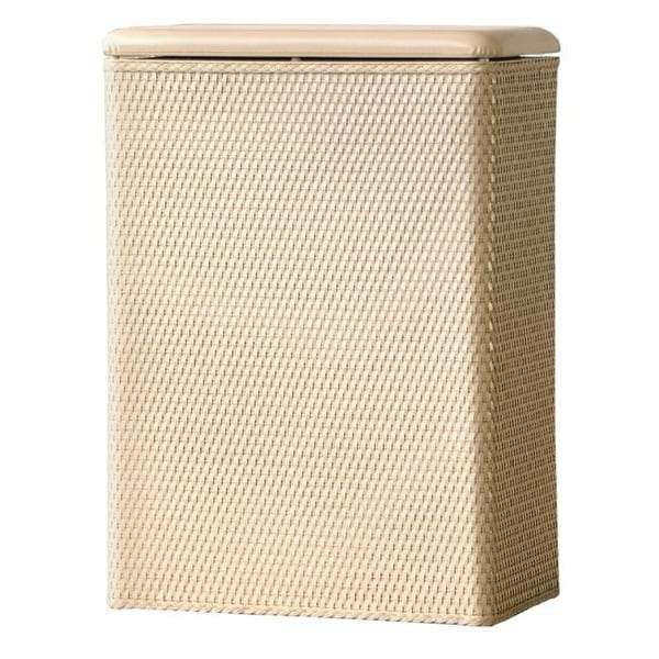 Home Carter Family Size Wicker Laundry Hamper with Coordinating