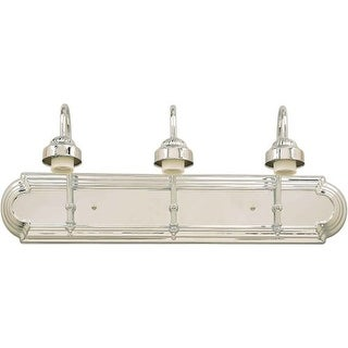 "Forte Lighting 52703 Functional 3 Light 24"" Wide Bathroom Fixture from the Bath Collection"