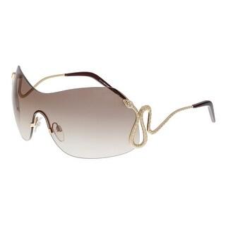 Roberto Cavalli RC896S HASSALEH 772 Rose Gold Shield Sunglasses