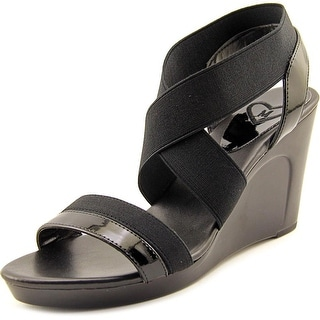 Madeline Poise Open Toe Canvas Wedge Sandal