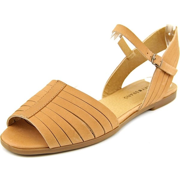 Lucky Brand Channing Women Peep-Toe Leather Slingback Sandal