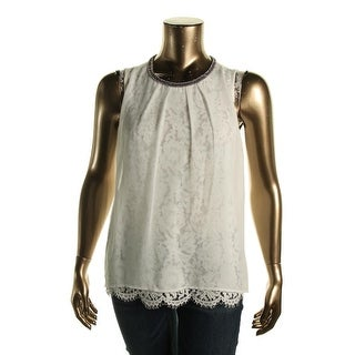 Design History Womens Lace Embellished Blouse