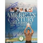 Signed American Century Championship Golf Program 2002 Charles Barley  Mario Lemieux  Jerry Rice  J