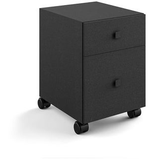 """WS Bath Collections Runner 5438 20"""" Wheeled Storage Cabinet with 2 Drawers from the Linea Collection"""