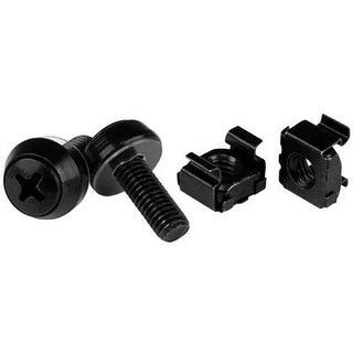 Startech.Com M6 X 12Mm Screws And Cage Nuts - 100 Pack - M6 Mounting Screws And Cage Nuts For Server Rack And Cabinet -