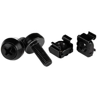 Startech.Com M6 X 12Mm Screws And Cage Nuts - 50 Pack - M6 Mounting Screws And Cage Nuts For Server Rack And Cabinet - B