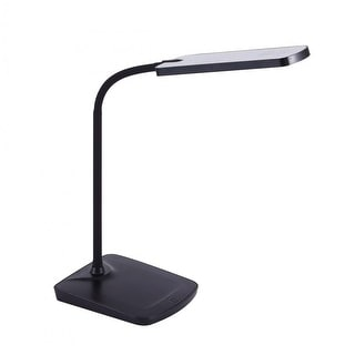 Link to Black Adjustable Silicone Neck Dimmable LED Desk Lamp w/ USB Charging Port, Touch-Sensitive  Similar Items in Desk Lamps