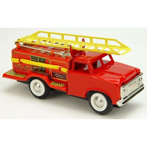 "Vintage Style 5.75"" Tin Fire Truck - Multi"