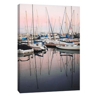 """PTM Images 9-106027  PTM Canvas Collection 10"""" x 8"""" - """"Harbor At Dusk"""" Giclee Sailboats Art Print on Canvas"""
