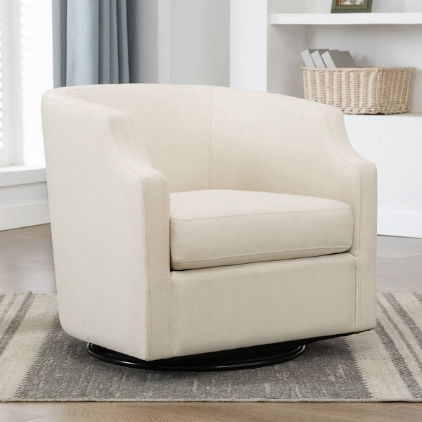 Cayden Swivel Barrel Glider Chair by Greyson Living. Opens flyout.