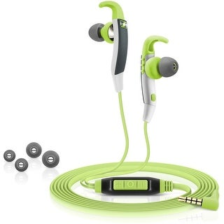 Sennheiser CX 686G Water Resistance Slide to Fit Sports Headphone with Microphone - Green