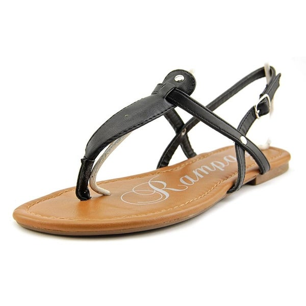 Rampage Raquel Women Open Toe Synthetic Black Thong Sandal