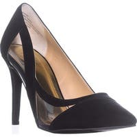 TS35 Nayomi Cut-Out Pumps, Black Micro