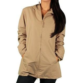 Vantage Ladies Hooded Microfiber Coat