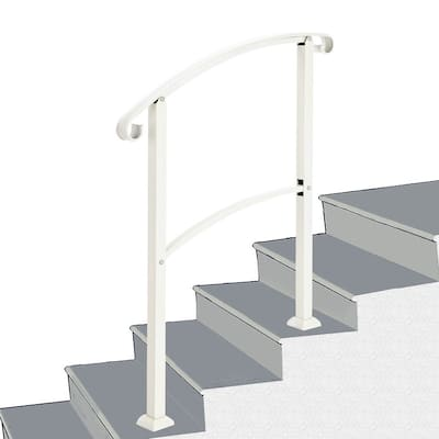 Outdoor 1-3 Steps Adjustable Wrought Iron Handrails Grab Rail