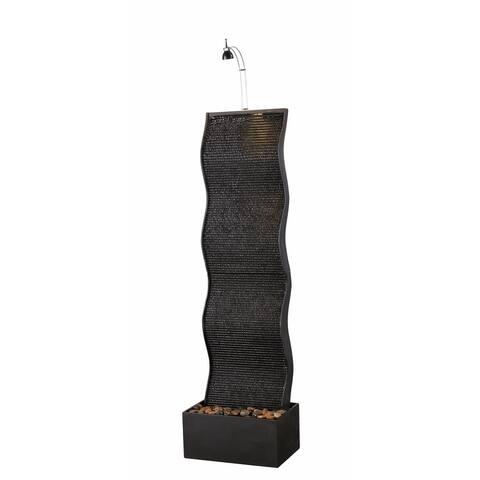 """Swell 56"""" Indoor Floor Fountain - Black - 16x11x55.75"""