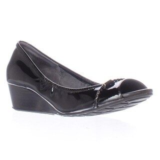 Cole Haan Tali Open Toe Det Wedge Pumps, Black