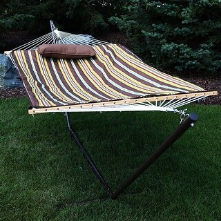 sunnydaze rope hammock  bo with stand pad and pillow   style options available hammocks  u0026 porch swings for less   overstock    rh   overstock