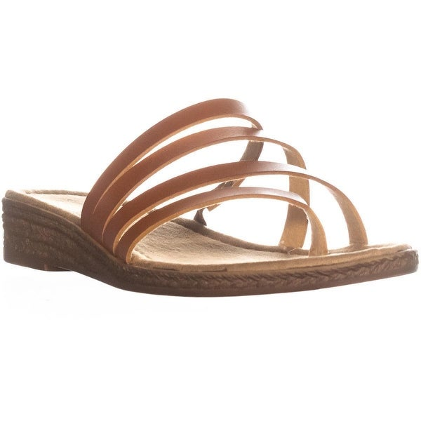 Seven Dials Brennan Slip on Wedge Sandals, Cognac