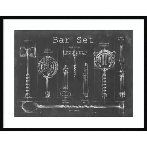 Bar Set by Ethan Harper 37-inch x 29-inch Framed Wall Art Print