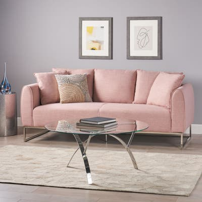 """Canisbay Modern 3-seater Fabric Sofa by Christopher Knight Home - 82.75"""" W x 33.25"""" D x 35.25"""" H"""