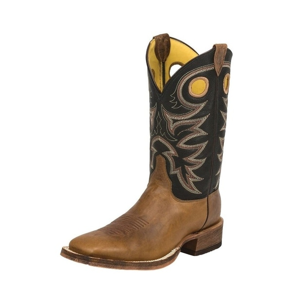 d307a7b1ed9 Justin Western Boots Mens Leather Bent Rail Caddo Tobacco BR740