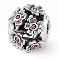 Sterling Silver Reflections Swarovski Elements Blossoms Bead (4mm Diameter Hole) - Thumbnail 0