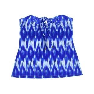 Shoshanna Womens Printed Halter Tankini Swimsuit - 4