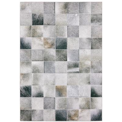 Montreux Geometric Animal Print Gray Area Rug