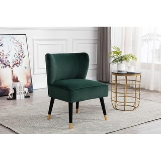 Link to Porthos Home Astor Accent Slipper Chair, Fabric Cover, Wooden Legs Similar Items in Accent Chairs