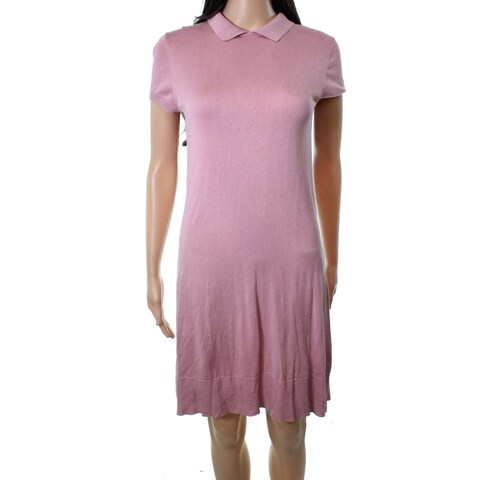 Lacoste Pink Women's Size XXS Peter Pan Collar Sweater Dress