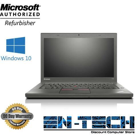 "Lenovo ThinkPad T450 14.1"" Refurbished Laptop - Intel Core i5 5300U 5th Gen 2.3 GHz 8GB 256GB SSD Windows 10 Pro 64-Bit - Webcam"