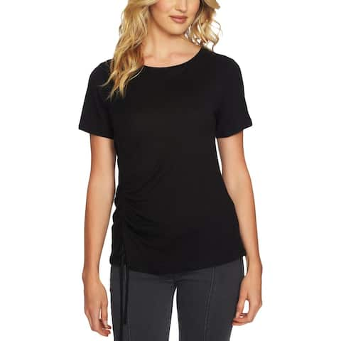 1.State Womens T-Shirt Asymmetrical Ruched